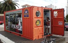 In Uruguay, a shipping container used as retail space. (via Musto Cargo Container Retail Store Shipping Container Store, Shipping Container Conversions, Shipping Container Buildings, Shipping Container Design, Shipping Containers, Container Restaurant, Container Shop, Cargo Container, Container Cabin