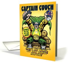 Captain Couch Hero Funny Father's Day card (1090510) by Nobleworks