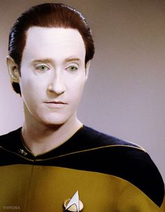 Brent Spiner as Lt. Commander Data from Star Trek The Next Generation.