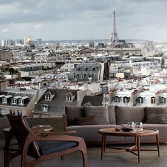 Paris Rooftops Mural - The Pepin Shop {someday, @Katie Grimes, someday.  and this is where we'll be staying}
