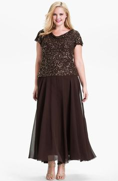 J Kara Beaded Mock Two Piece Crepe Dress available at Nordstrom