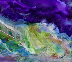 Silvery Stormy Seas Painting by Alexis Bonavitacola
