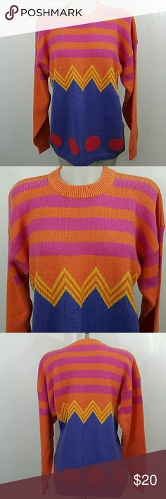"""Vintage Sweater Vintage Sweater. In good condition. Size large.  Bust 40"""" Length 28"""" Sportables Sweaters"""