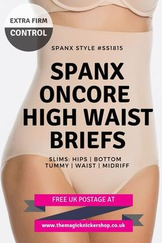 66c7bce89da8a Spanx OnCore Extra Firm High Waisted Control Briefs - SS1815
