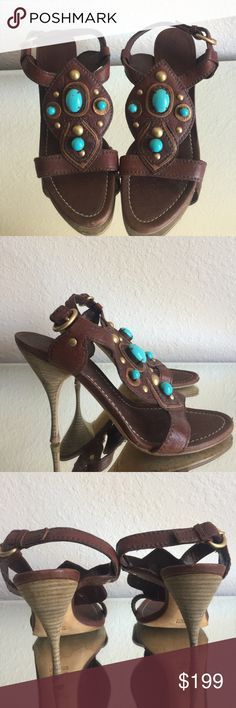 Authentic Miu Miu heels  The gorgeous heels come from my collection. In good condition. Size 38. Made in Italy. No box, do come with dustbag.  Heel height 4.5 inches.  Minor signs of wear on the heels. No trades!!! Ty Miu Miu Shoes Heels