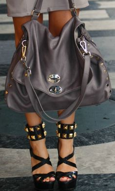 Bag ZANELLATO, Shoes MIU MIU.