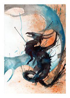Ink Dragon III by RubisFirenos on deviantART