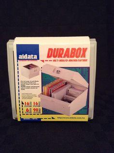 NIB Aidata Media Storage CD/DVD Floppy Disks Storage Box Organizer Computer  #Aidata
