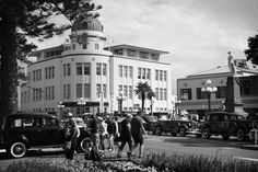 Taken at Napier's 2013 Art Deco Weekend . like being transported back in time! Napier New Zealand, Art Deco Clothing, Back In Time, Homeland, Art Nouveau, Street View