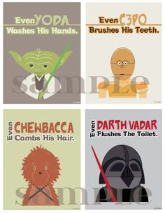 Star Wars Bathroom Prints by hlr976 on Etsy, $20.00