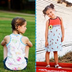 Download Racerback Knit Tank Top or Dress Sizes 2-9/10 Sewing Pattern   Knit Fabric Patterns   YouCanMakeThis.com