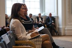 """Crown Princess Mary took part in a meeting """"Invest in women and girls - it brings progress for all"""" in Landstingssalen in Christiansborg Palace. 18 August 2014."""