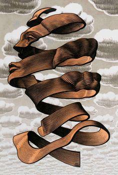 M. C. Escher. Such amazing cuts.