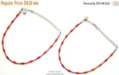20% OFF SALE 2 Anklets Amber Beads on a Black flexi-thread-Handmade Jewelry-Indian Handicraft-Tibetan Jewelry-Handmade Anklet-beaded Anklet-