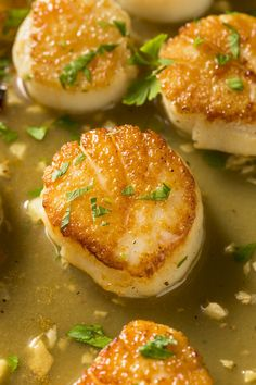 {NEW} Pan Seared Sea Scallops 🍋 Have you tried cooking sea scallops at home? One of the fastest, most impressive dishes you can Pan Fried Scallops, Dried Scallops, Sea Scallops, Baked Salmon Recipes, Fish Recipes, Seafood Recipes, Dinner Recipes, Famous French Dishes, Best Pans