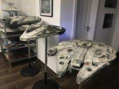 Calrissian's Damaged Millennium Falcon & Deagostini Millennium Falcon by HACKCORE