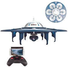 Circular-6-Blade-Cell-Phone-Remote-Controlled-Drone-Helicopter-W-Video-Camera