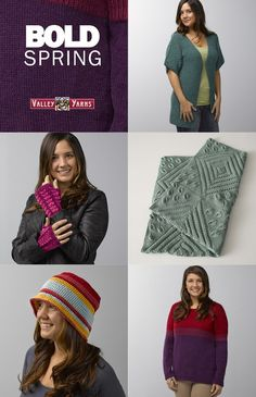 Take a look at the patterns inside our Valley Yarns Bold Spring eBook. Fresh and exciting colors make these designs pop!