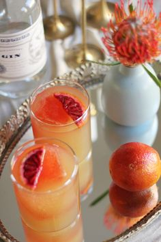 Blood orange cocktails: http://www.stylemepretty.com/vault/search/images/Recipes