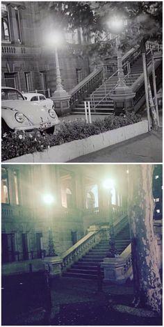 Druitt St steps of the Town Hall 1965 > [City of Sydney Archives > Curt Flood. By Curt Flood] Town Hall, Union Jack, Vintage Stuff, Historical Photos, Old Photos, Sydney, Sailing, The Past, Australia