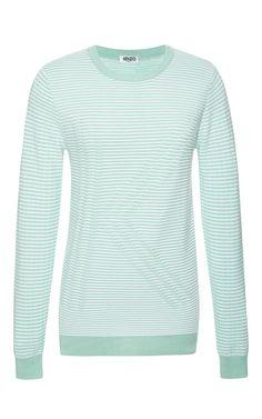 Kenzo Resort 2015 Collection l Logo Artwork On Ribbed Cotton Sweatshirt