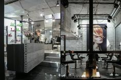 HAIR STUDIOS! Tana Kmenta hair studio by Muon, Brno   Czech Republic store design  #counter