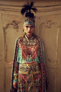 """Tales From The Reading Room"" | Models: Jira Kohl & Svetlana Zakharova, Photographer: Justin Ridler, Camilla Franks F/W Lookbook 2013"
