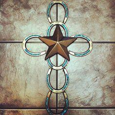 Horseshoe Cross by austinbamertdesigns on Etsy, $45.00