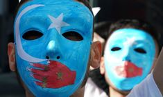 People protest at a pro-Uighur rally outside UN headquarters in New York. Freedom Of Speech, Freedom Of Movement, Chinese Party, Women In China, Turkic Languages, Freedom Of Religion, Muslim, Crime, Camps