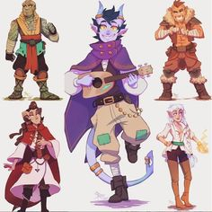 drew main party members from our d&d campaign! Cat Character, Character Poses, Fantasy Character Design, Character Creation, Character Outfits, Character Design Inspiration, Character Concept, Concept Art, Dungeons And Dragons Characters