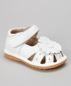 6f24d8f9cd Take a look at this Pink Daisy Closed-Toe Squeaker Sandal by Peepers on  zulily  today!