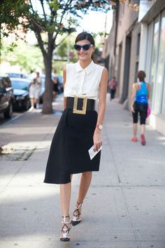 Giovanna Battaglia, New York Fashion Week Spring 2014 Street Style #NYFW #NYCStreetStyle