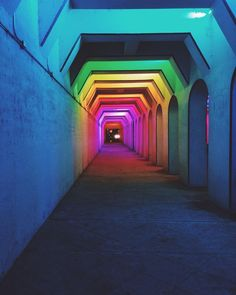 The Color Tunnel in Birmingham, Alabama.