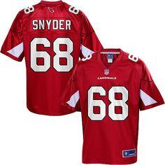eb8820eb6d6a Men s Pro Line Arizona Cardinals Adam Snyder Team Color Jersey Cardinals  Players