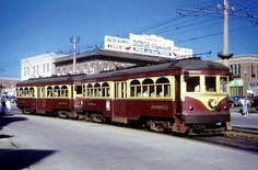 This 1951 shot shows Red Arrow Lines 57 and 76 headed outbound in tandem from 69th Street Terminal on Garrett Road. Just like many modern day lines, Red Arrow often used two-car trains during peak ridership hours.