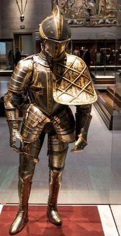 Jousting armor for Archduke Maximillian III of Austria, by armorer Anton Pfeffenhauser, 1571