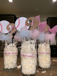 Baseballs or bows center piece for gender reveal Baseballs or bows center piece for gender reveal reveal ideas Baseball Gender Reveal, Twin Gender Reveal, Gender Reveal Themes, Pregnancy Gender Reveal, Gender Reveal Balloons, Gender Reveal Party Decorations, Baby Gender Reveal Party, Pregnancy Photos, Reveal Parties