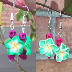 New color combinations of my favorite Hawaiian style earrings are listed! AND They're only $4.99, which is awesome.  You need a pair. Really, you do. <3