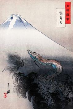Ogata Gekko - Ryu Sho Ten, Japanese Art, Japan, Museum Poster, Canvas Print in Art, Prints | eBay