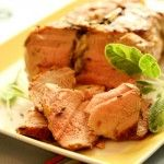 How To Cook Pork Roast So It Stays Juicy, from Skinnychef. The secret? Brown it on the stovetop, then roast it in the oven at high heat for a short time so it can't dry out. (Skip the oil for Phase 2.)