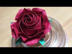 Only one origami rose51 達人折りのバラの折り紙51 - YouTube