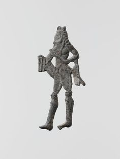 Lead figure of a man with a spear or scepter | Greek, Laconian | Archaic | The Met