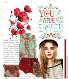 """""""Inspired by flowers"""" by lucille-sgl on Polyvore"""