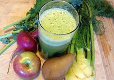 Sweet n Tangy JuiceIngredients: 1 large radish 1 small apple 1 pear 1/2 fennel bulb 4 kale leaves (Tuscan cabbage) Substitutions: Radish – beet (beetroot) Apple – another pear Pear – another apple Fennel – lemon, ginger Kale – spinach, chard