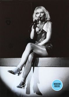 Blondie by Allan Ballard, taken in San Diego in 1977 when Debbie Harry was introducing David Bowie and Iggy Pop on stage during their Idiot Tour. Available as a limited edition print.  http://www.modernrocksgallery.com/rockers/blondie-allan-ballard