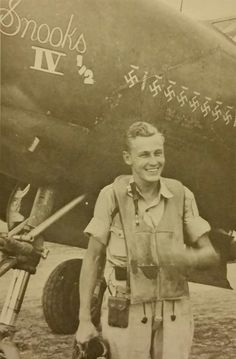 """1st Lt. William J. Sloan, flying P-38 named """"Snooks 4 1/2"""", P-38G-10 12 Aerial Victories, was the highest scoring Ace in the 82nd Fighter Group, 12th Air Force MTO."""