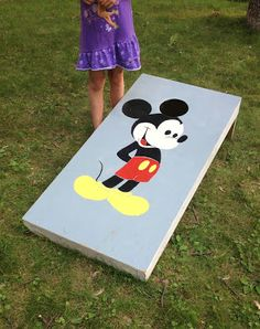 The Kid Friendly Home Diy Lawn Beanbag Toss Or Mousehole