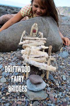 Make driftwood bridges for the ocean fairies.