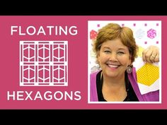 Jenny from MSQC shows you how to make a Floating Hexagons Quilt in a simple and easy tutorial