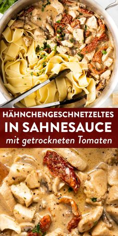 Hähnchengeschnetzeltes Toskana mit getrockneten Tomaten [Rezept mit Video] - Expolore the best and the special ideas about Healthy recipes Chicken Slices, Vegetarian Recipes, Healthy Recipes, Healthy Foods, Asparagus Recipe, Evening Meals, Dried Tomatoes, Soul Food, Salad Recipes